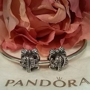 "Set of 2 Pandora ""All Wrapped Up"" Charms (retired)"
